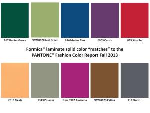 Syksyn 2013 värikartta.